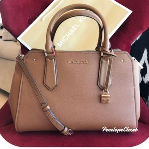 """Micheal Kors Hayes Lg satchel in color """"Luggage"""""""